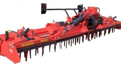 Новая модель HR 7040 R будет иметь ширину захвата 7 м и адресована крупным хозяйствам, поскольку производительность новой бороны - до 100 га/день