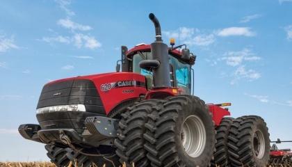 Колесный Case 620 продемонстрировал самое высокое тяговое усилие в мире - 242 г/кВт-ч
