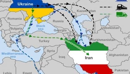 Україна та Іран домовилися про запуск тестового поїзда для транспортування сільськогосподарської продукції, в першу чергу, зернових з України до Іраун через територію Грузії та Азербайджану