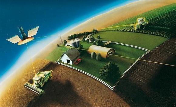 Алгоритм впровадження точного землеробства фото, ілюстрація