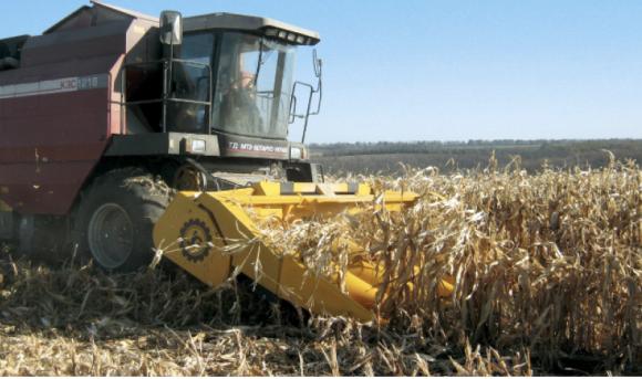 Жатка для збирання кукурудзи на зерно фото, ілюстрація