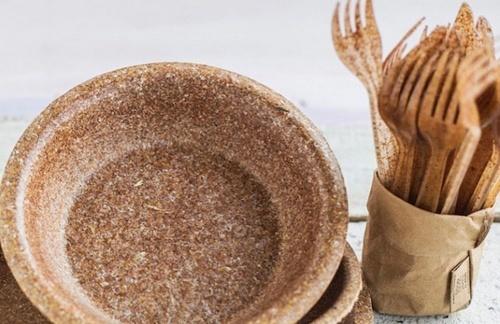 В Україні створюють одноразовий посуд із висівок фото, ілюстрація