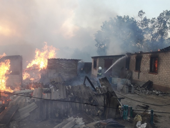 Вогонь повністю знищив село на Харківщині фото, ілюстрація