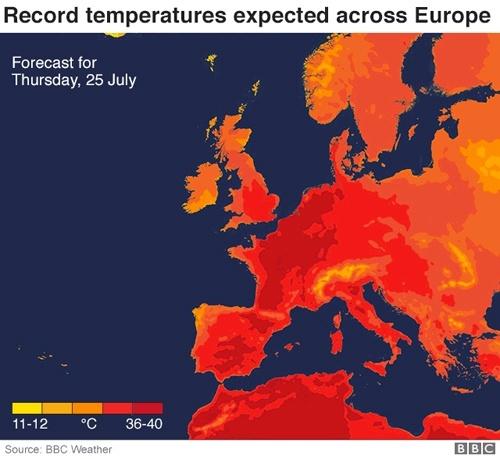 До Європи прийшла друга хвиля спеки: у Франції рекордні +41 фото, ілюстрація
