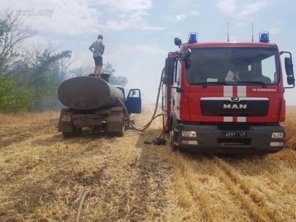 Под Мариуполем горят поля с урожаем. Поджигатели вымогают деньги с фермера фото, иллюстрация