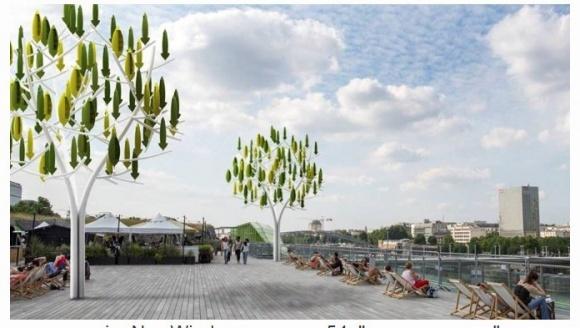 Французы изобрели деревья, которые самостоятельно производят электрику фото, иллюстрация