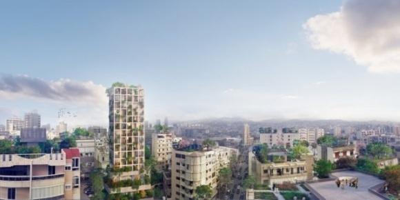 Вертикальне еко-селище: неймовірні фото зеленого хмарочоса з Лівану фото, ілюстрація