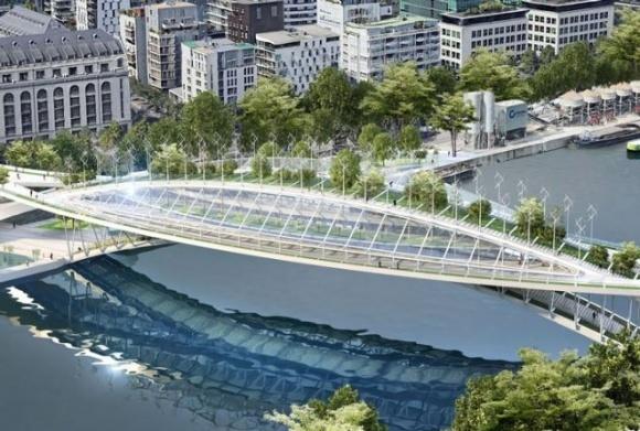 В Париже появится уникальный мост: там будут выращивать овощи и фрукты  фото, иллюстрация