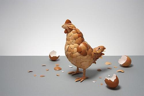 Яєчна шкаралупа стала матеріалом для зберігання даних фото, ілюстрація
