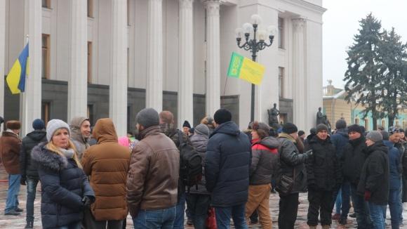 Фермеры вышли с акцией протеста под Верховную Раду фото, иллюстрация
