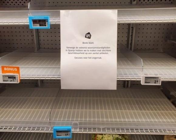 Из-за морозов в Испании нарушено снабжение супермаркетов ЕС овощами фото, иллюстрация