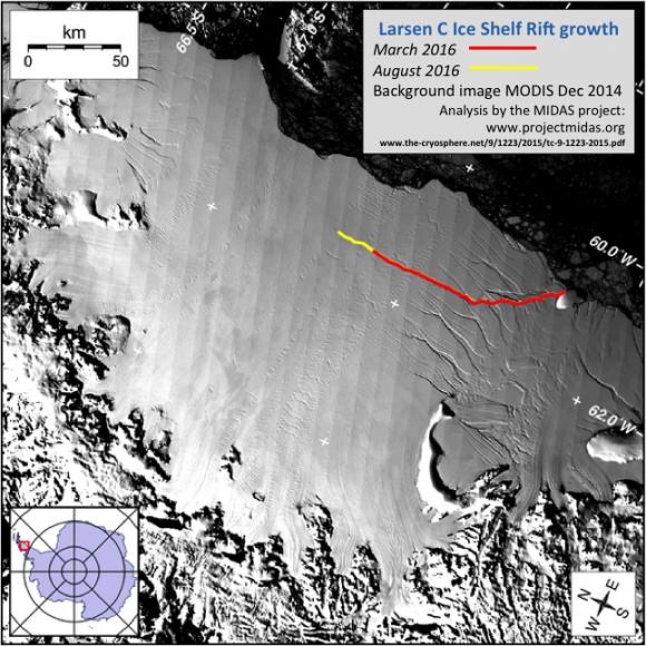 В Антарктиде скоро отвалится величайший ледник. Последствия непредсказуемы фото, иллюстрация