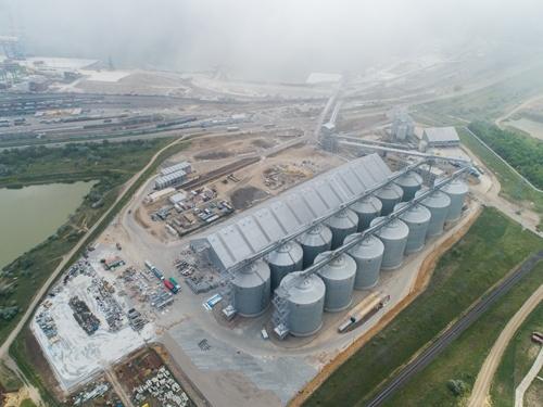Новий зерновий термінал MV Cargo у порту Південний готовий на 92% фото, ілюстрація