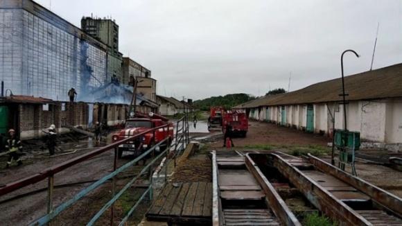 На Луганщине пожар уничтожил зерновой склад ГПЗКУ фото, иллюстрация