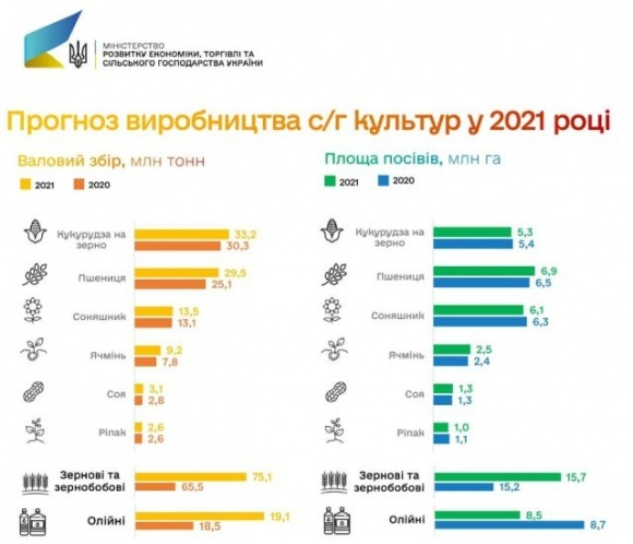В 2021 году Украина может повторить рекорд валового сбора зерна, — Минэкономики фото, иллюстрация