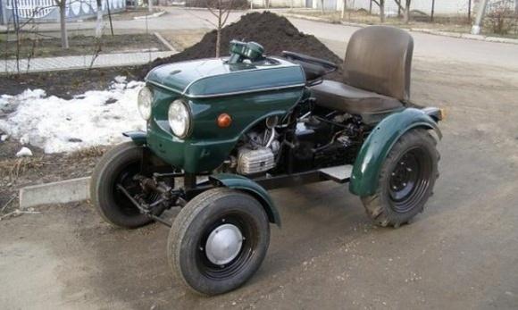 На Сумщині чоловік змайстрував унікальний трактор на базі Запорожця фото, ілюстрація