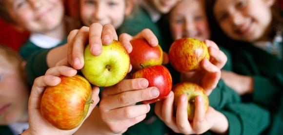 ЄС привчає школярів споживати фрукти та овочі фото, ілюстрація