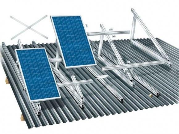 Які бувають кріплення для установки сонячних батарей  фото, ілюстрація
