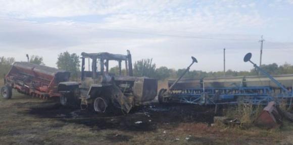 На Харьковщине сожгли фермерскую технику частной фирмы фото, иллюстрация
