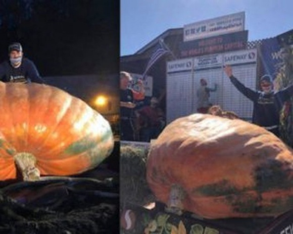 За тыкву весом более тонны американский фермер-учитель получил $16 тысяч фото, иллюстрация