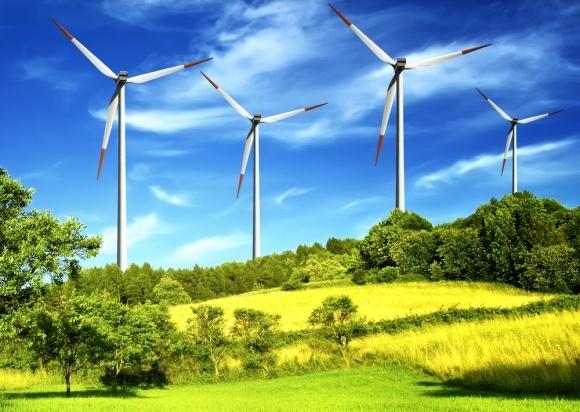 По всему миру работает более 341 тыс. ветровых турбин фото, иллюстрация