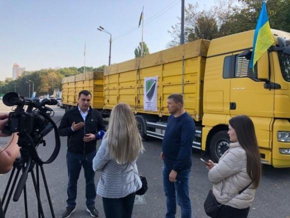 Всеукраїнський Конгрес Фермерів везе зерно фермерам Бесарабії фото, ілюстрація
