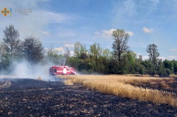 В Хмельницкой области пожарные спасли 65 га пшеницы  фото, иллюстрация