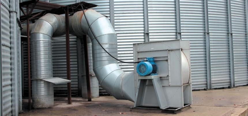 Продування зерна повітрям із навколишнього середовища як один із елементів технологоії охолодження зерна