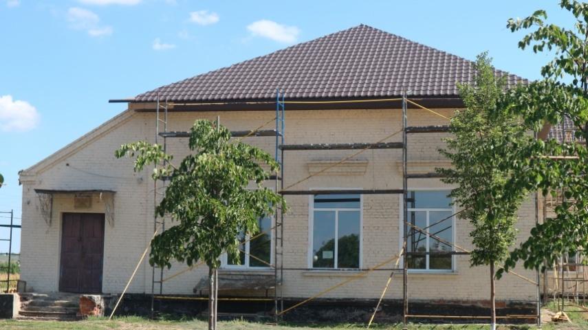 В сільському клубі - новий дах