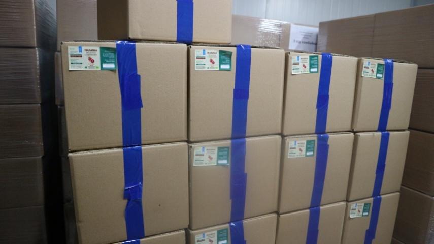 Упакована продукція готова до відправки на експорт