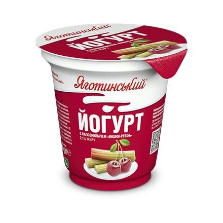 Ревінь може бути наповнювачем для йогуртів