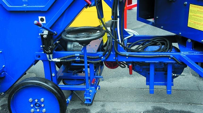 Ходова частина та механізм повороту зернокидача ЗЗП-80
