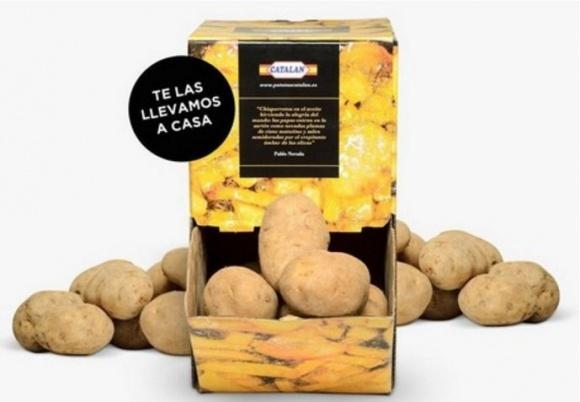 В Іспанії вивели на ринок оригінальну упаковку для картоплі фото, ілюстрація