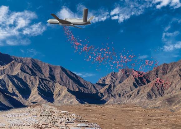 Реактивный беспилотник Avenger доставит пищевые пайки фото, иллюстрация